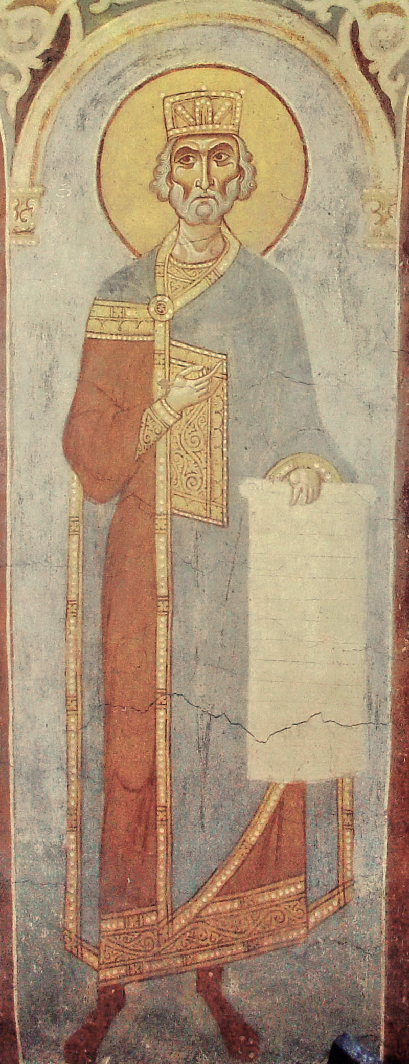 Пророк Давид, царь  Россия. Старая Ладога. Георгиевская церковь  XII ... 6dd43dd453f