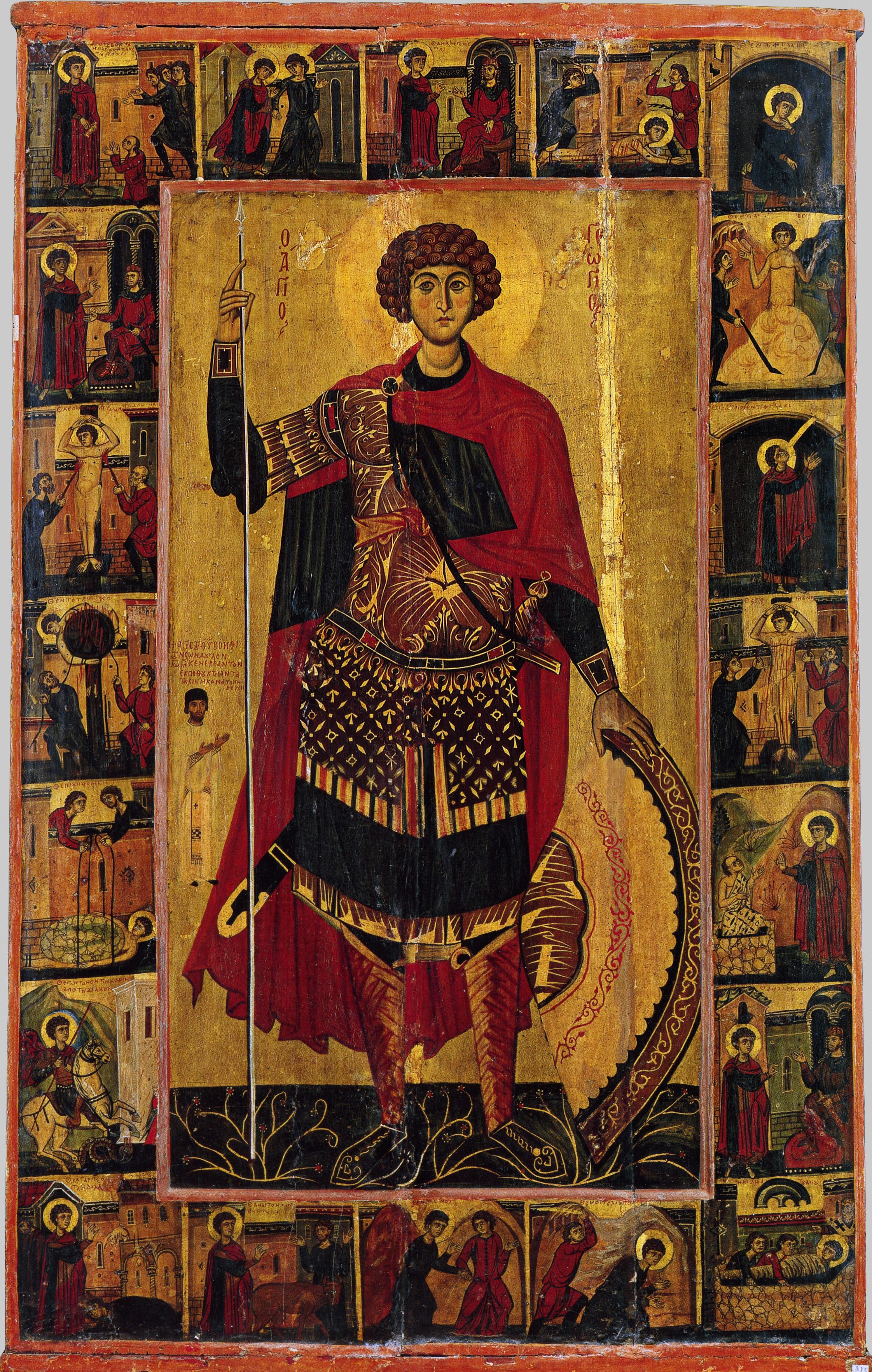 Византийская икона святого георгия подлинник